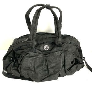 Lululemon Black Duffel Bag Gym Tote